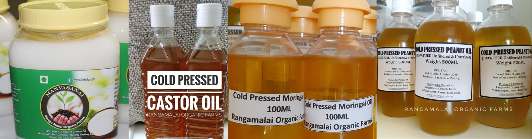 100% Pure Cold Pressed Oils
